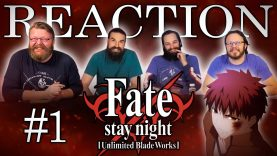 Fate/stay night: Unlimited Blade Works 01 Reaction