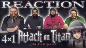 Attack on Titan 4×1 Reaction