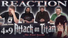 Attack on Titan 4×9 Reaction